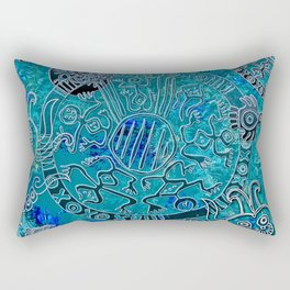 Aztec blues Rectangular Pillow