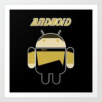 android Art Prints featuring Android by dextifire