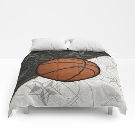 Basketball Stars and Court Team Sports Design Comforters