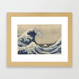 "Katsushika Hokusai, ""Under the Wave off Kanagawa (Kanagawa oki nami ura), also known as the Great Wa Framed Art Print"