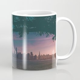 Dark San Francisco Sunset Bridge (Color) Coffee Mug