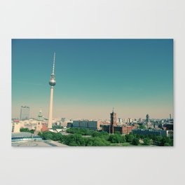 The Fernsehturm towering over Berlin Canvas Print