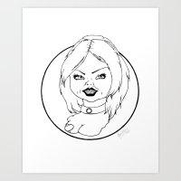 tiffany Art Prints featuring Tiffany by Albino Bunny