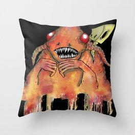 Red Meltdown Throw Pillow