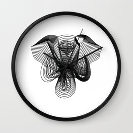 Elephant Face Blended Wall Clock