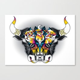 Taurus - Second of the Zodiac Canvas Print