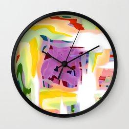 Wake Up Multicolored Abstract Wall Clock