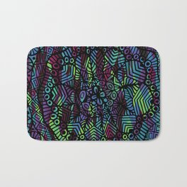Purple and Green Doodle 14 Bath Mat