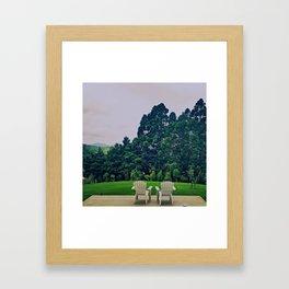 Backyard Framed Art Print