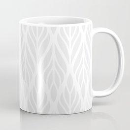 Grey Abstract Paisley Feathers Coffee Mug