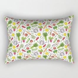 Summer Vegetable Garden Rectangular Pillow