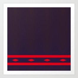 Fractal Art Red Ellipses On Warm Brown Art Print