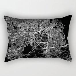 Copenhagen Black Map Rectangular Pillow