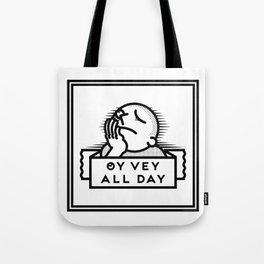 Oy Vey dude blk Tote Bag