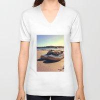 vans V-neck T-shirts featuring Beached Vans by Zakvdboom Designs