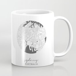 Sydney Australia Circle Street Map Coffee Mug