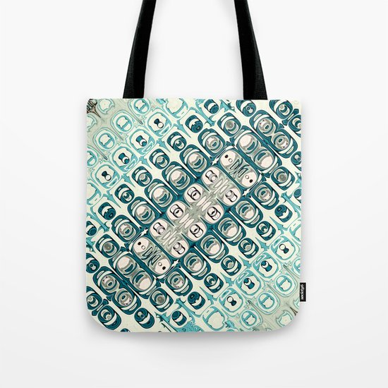 Turquoise Tile Pattern Tote Bag