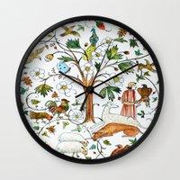 medieval Wall Clocks featuring MEDIEVAL by oxana zaika