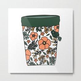 Flowery Chalk Bag Metal Print