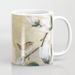 Minhwa: A Wren on the Magnolia Coffee Mug
