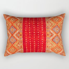 N175 - Golden Heritage Traditional Berber Moroccan Style Rectangular Pillow