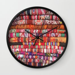 Peruvian Textiles Wall Clock