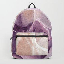 Amethyst Crystal Watercolor Backpack