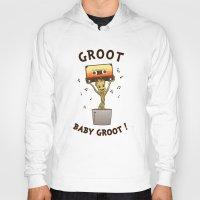 groot Hoodies featuring Groot, Baby Groot! by Andrew Sebastian Kwan