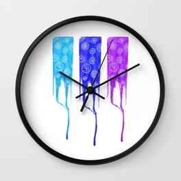 Blue strips trio Wall Clock