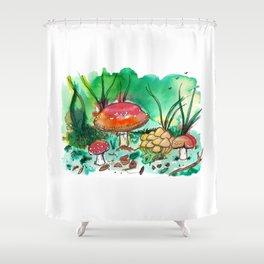 Toadstool Mushroom Fairy Land Shower Curtain