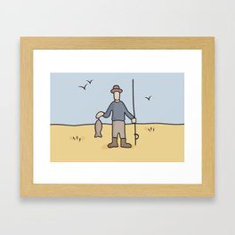 Beavid and Butthead Fisherman picture Framed Art Print
