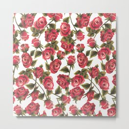 Classic Red Rose Metal Print