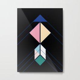 Tangram Arrow One Metal Print