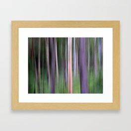 Purple Forest Framed Art Print