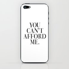 You can't afford me vogue typography iPhone & iPod Skin