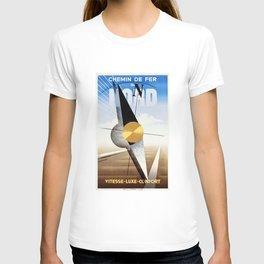 Chemin de Fer Du Nord - Vintage Fench Travel Poster T-shirt