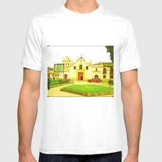 THE CHURCH OF COLOMBIA Cundinamarca Bojacá SMALL White Mens Fitted Tee