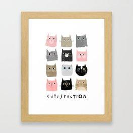 Catisfaction No. 1 Framed Art Print