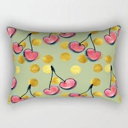 Cherry with gold dots Rectangular Pillow