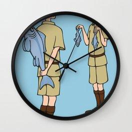 Fish Slapping Dance Wall Clock