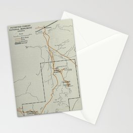 Vintage Petrified Forest National Park Map (1919) Stationery Cards