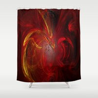 phoenix Shower Curtains featuring Phoenix by Lucia