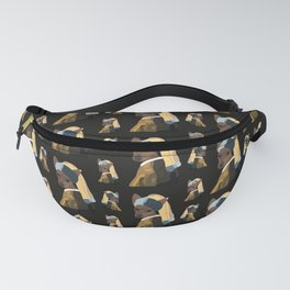 Pinscher dog with a pearl earring Fanny Pack