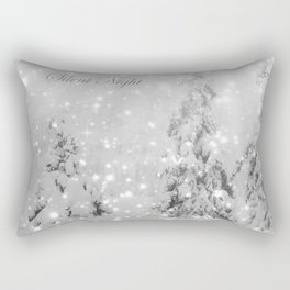 Silent Night - B & W Rectangular Pillow