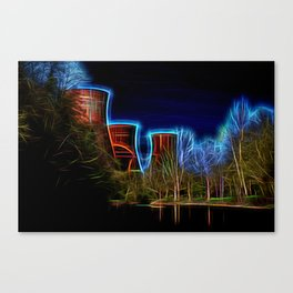 Digital Art Ironbridge Power Station Canvas Print