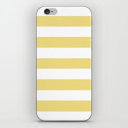 Buff - solid color - white stripes pattern iPhone Skin