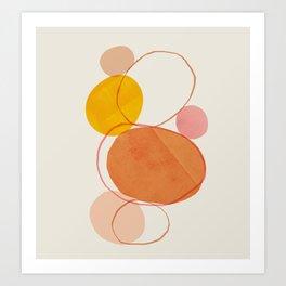 Abstraction_Balance_Minimalism_Lines_01 Art Print