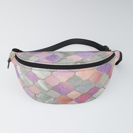 Quatrefoil Moroccan Pattern Mother of Pearl and quartz Fanny Pack