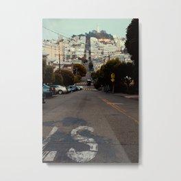 San Fransisco street - coit tower Metal Print