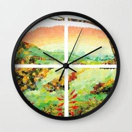 Window Pane Wall Clock